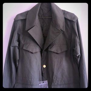 Yves Saint Laurent Khaki Trench Flap Pockets NWT